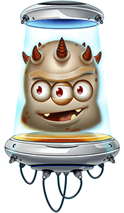персонаж бесплатного игрового автомата reactoonz