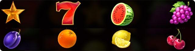 символы онлайн слота семерки и фрукты